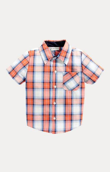 Crayonflakes | Orange and White Checked Shirt