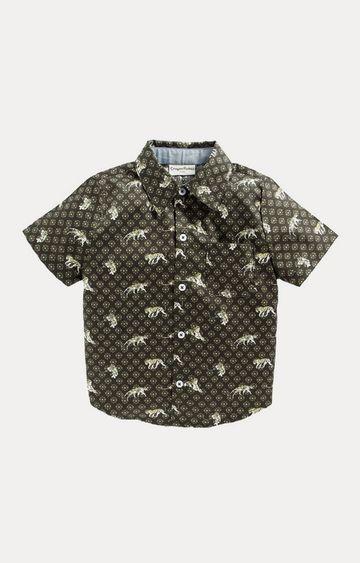 Crayonflakes | Green Printed Shirt