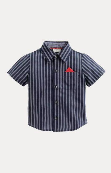 Crayonflakes | Navy Blue Striped Shirt