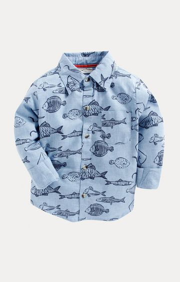 Crayonflakes | Light Blue Printed Shirt