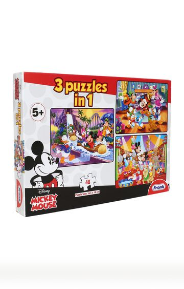 Hamleys | Jigsaw Puzzle Mickey Mouse Friends 3 In1