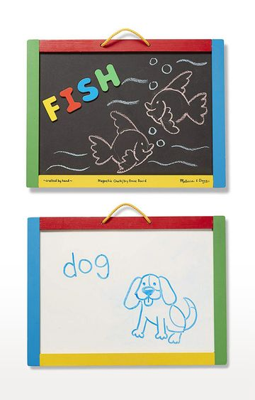 Hamleys | Melissa and Doug 145 Magnetic Chalk and Dry Erase Board