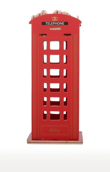 Beados | Red Wooden Phone Booth Construction Kit