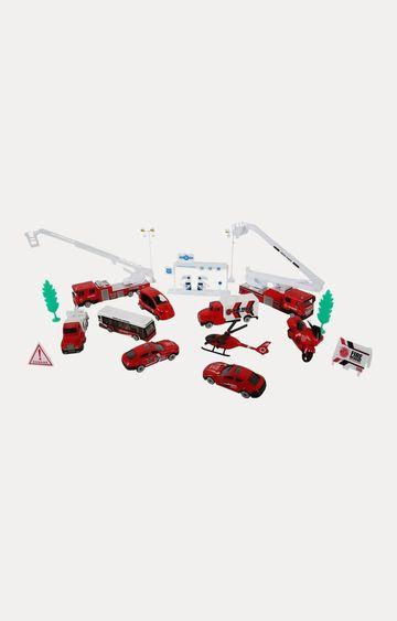 Hamleys | Comdaq Metal Fire Engine Play Set