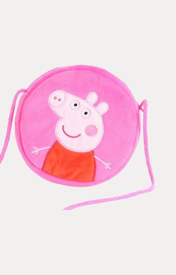 Hamleys | Peppa Pig Pink Plush Toy Round Shaped Wallet