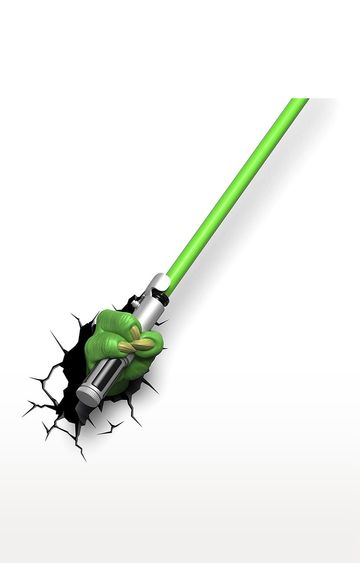 Hamleys | 3D Light FX Plastic and Metal EP7 Star Wars Yoda Saber 3D Wall Decor