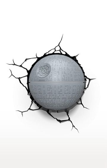 Hamleys | 3D Light FX Round Plastic and Metal Star Wars Death 3D Deco LED Wall Light
