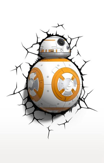 Hamleys | 3D Light FX Plastic and Metal Star Wars BB - 8 Droid 3D Deco LED Wall Light