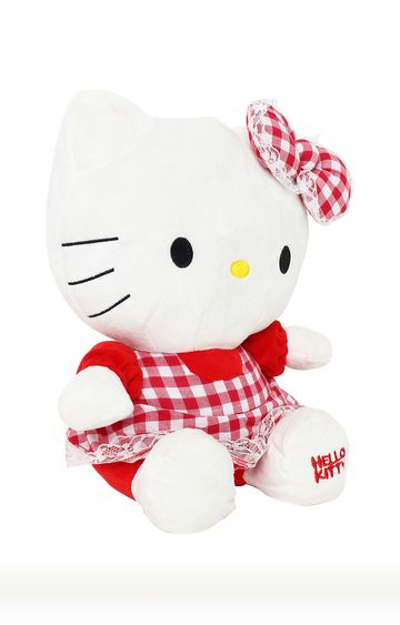 Hamleys | Hello Kitty In Red Dress Plush Toy