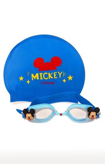 Hamleys | Mesuca Blue Disney Mickey Mouse Theme Swimming Goggles and Cap Set