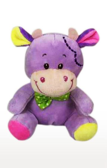Beados | Purple Star Walk Cow Plush with Green Bow - 20 cm