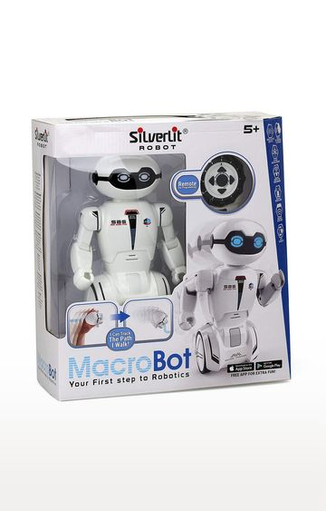 Beados | White Silverlit Macrobot First Step Actual Robotics with Remote Control - 50 Programmable Actions
