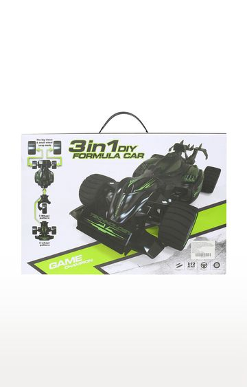 Beados | Black and Green Remote Controlled Race Car with Three Spare Tyres