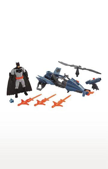 Hamleys | Justice League Action Figures Batman and Batcopter
