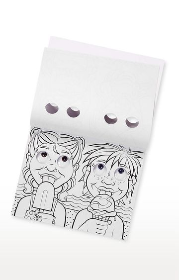 Hamleys | Melissa Doug Wacky Faces - Googly Eyes Colouring Pad