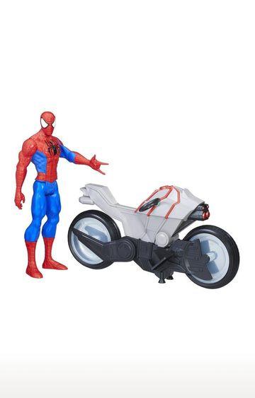 Hamleys | Marvel Spider-Man Titan Hero Series - Spider-Man Figure with Spider Cycle