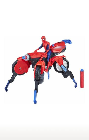 Hamleys | Spider-Man 3-in-1 Marvel Spider Cycle with Spider-Man Figure