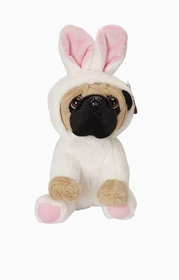 Beados | Cuddles Pug Soft Toy with Hood and Bunny Ears