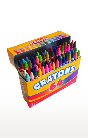 Beados   Playskool 64-Count Crayons with Built-in Sharpener