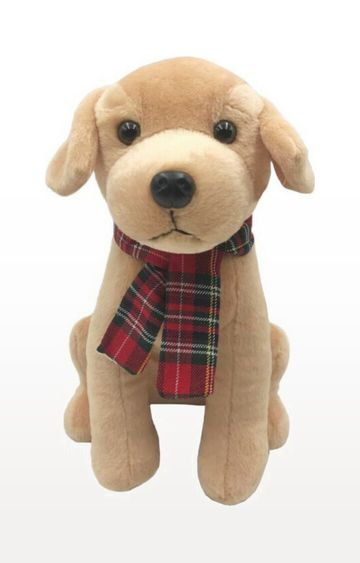 Beados | My Baby Excels Dog with Burberry Print Muffler Plush