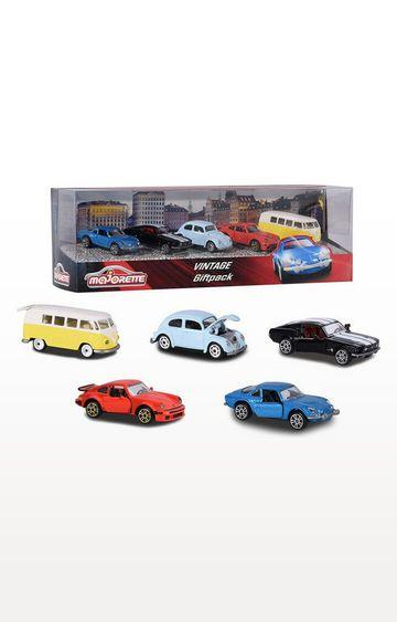Beados | Majorette Vintage 5 Pieces Git Pack Car Set