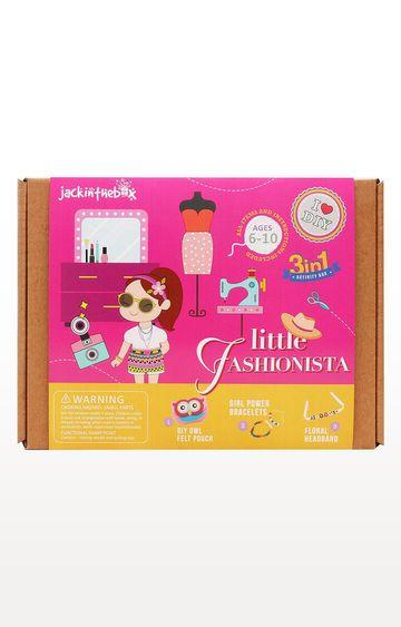 Hamleys | Blue Jackinthebox Art and Craft Little Fashionista 2-In-1 DIY Fun Activities