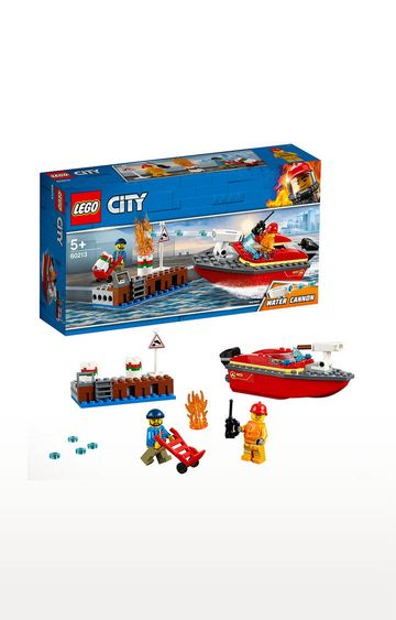Beados | Lego City Dock Side Fire Building Blocks