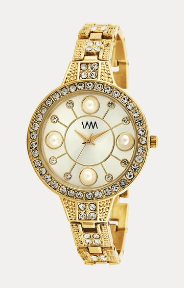 Watch Me | Watch Me Gold Stainless Steel Analog Watch For Women