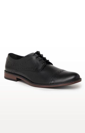 Noble Curve | Black Derby Shoes