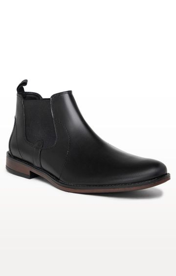 Noble Curve | Black Formal Chelsea Boot