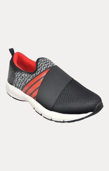 Allen Cooper | Black Red Running Shoes