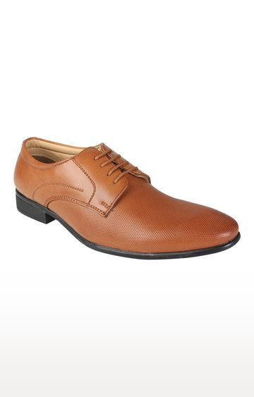 Vardhra   Tan Derby Shoes