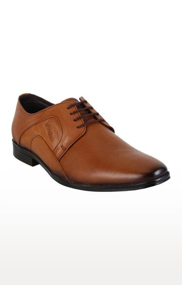 Vardhra | Tan Derby Shoes