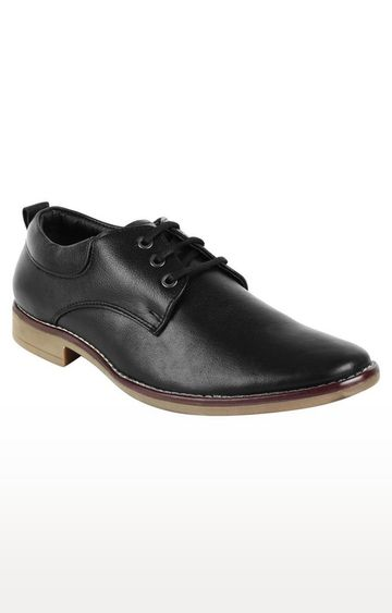 Vardhra | Black Derby Shoes