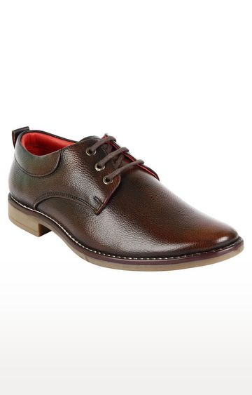Vardhra | Brown Derby Shoes