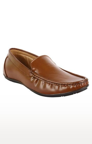 Vardhra | Tan Formal Slip-ons