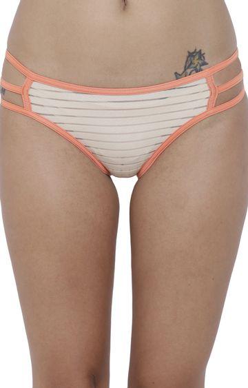 BASIICS by La Intimo | Nude Striped Bikini Panty