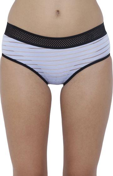 BASIICS by La Intimo | Blue Striped Hipster Panties