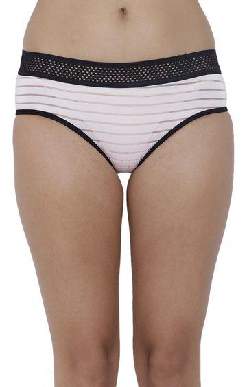 BASIICS by La Intimo | Pink Striped Hipster Panties