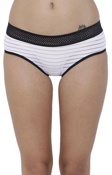 BASIICS by La Intimo | White Striped Hipster Panties