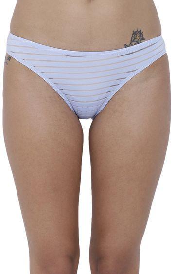 BASIICS by La Intimo | Blue Striped Bikini Panty