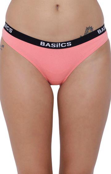 BASIICS by La Intimo | Coral Solid Bikini Panty