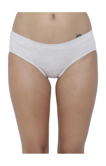 BASIICS by La Intimo | White Solid Hipster Panties