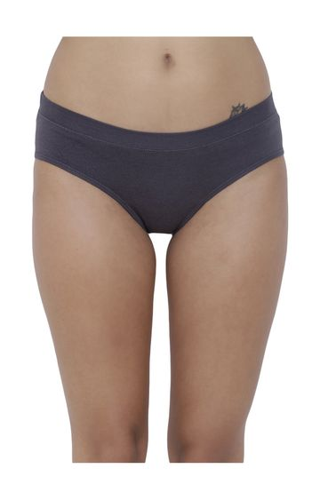 BASIICS by La Intimo | Grey Solid Hipster Panties