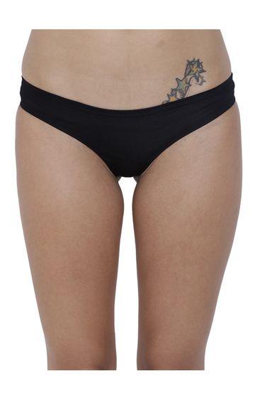 BASIICS by La Intimo | Black Solid Bikini Panty