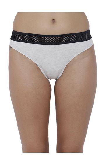 BASIICS by La Intimo   White Solid Bikini Panty