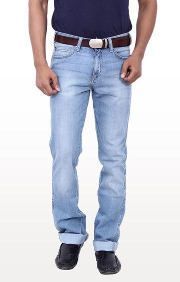Wrangler   Blue Millard Mid Low Rise Narrow Leg Jeans