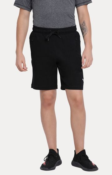 Puma | Black Solid Shorts