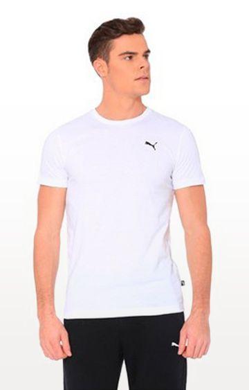 Puma | White Solid ESS Small Logo Tee
