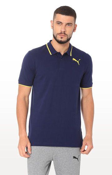 Puma | Navy Solid Polo T-Shirt